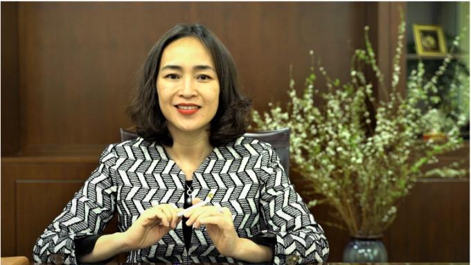 Bà Nguyễn Thị Kim Oanh, Phó Tổng Giám đốc Vietcombank. Ảnh: Tuấn Anh.