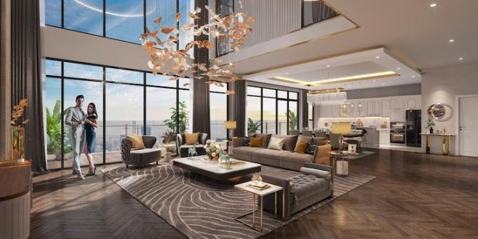 """Phối cảnh căn hộ tại The Matrix One sở hữu tầm view panorama """"triệu đô"""" thu trọn cảnh sắc"""