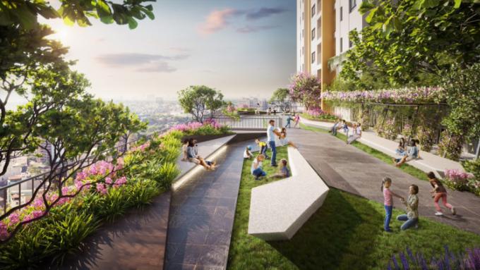 Sky Garden là một trong nhiều tiện ích hiện đại tại Bien Hoa Universe Complex, được kiến tạo dành riêng cho cư dân. Ảnh phối cảnh: Hưng Thịnh Land.
