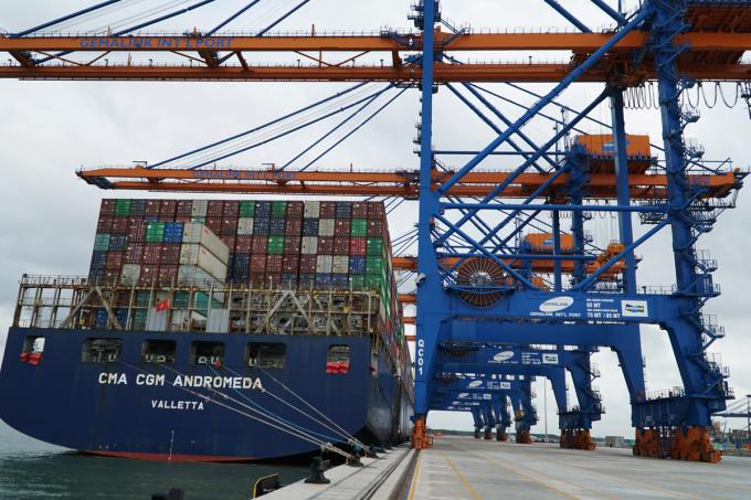 Cảng Gemalink - thuộc cụm cảng Cái Mép - Thị Vải. Ảnh: Đăng Khoa.