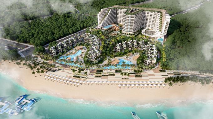 Phối cảnh dự án Charm Resort Long Hải nhìn từ xa.