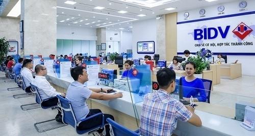 Một phòng giao dịch của BIDV.