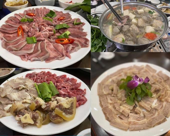 Thịt bò tươi, thơm ngon, nước dùng được ninh và nấu tỉ mỉ.