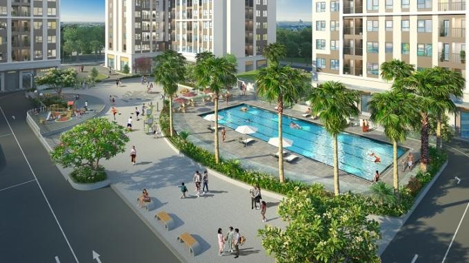 Tiện ích bể bơi, công viên... trong nội khu dự án.