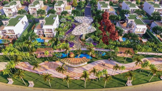 Một góc khu phức hợp nghỉ dưỡng Aria Vũng Tàu Hotel & Resort. Ảnh phối cảnh: Tập đoàn Danh Khôi.