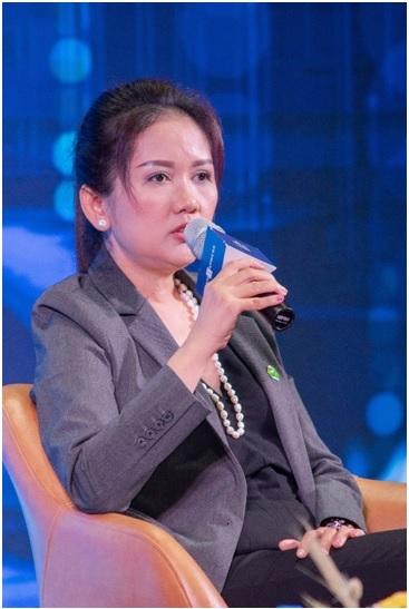Bà Nguyễn Thị Xuân Dung, Quyền Giám đốc tài chính Tập đoàn Novaland. Ảnh: Quỳnh Trần.