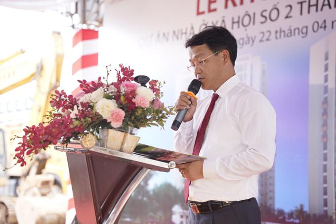 Ông Ngô Tấn Long, Chủ tịch HĐQT Công ty Cổ phần CDC Hà Nội tại sự kiện.