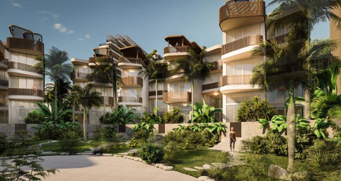 Không gian xanh trong dự án Charm Resort Long Hải.
