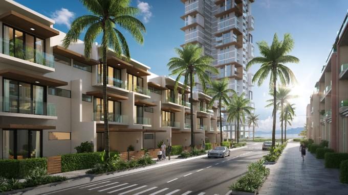 Thanh Long Bay quy hoạch theo hướng trở thành đô thị nghỉ dưỡng sinh thái kết hợp thể thao biển. Ảnh phối cảnh: Nam Group.