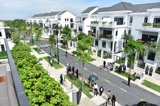 Một góc dự án biệt thự xây sẵn tại Đồng Nai