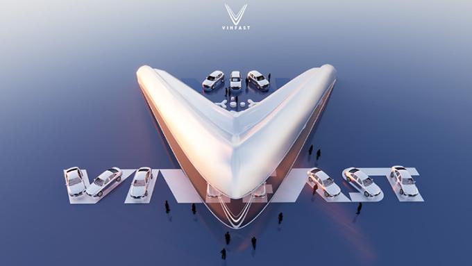 Thiết kế đạt giải nhất mang tinh thần Cùng bạn bứt phá mọi giới hạn của VinFast.