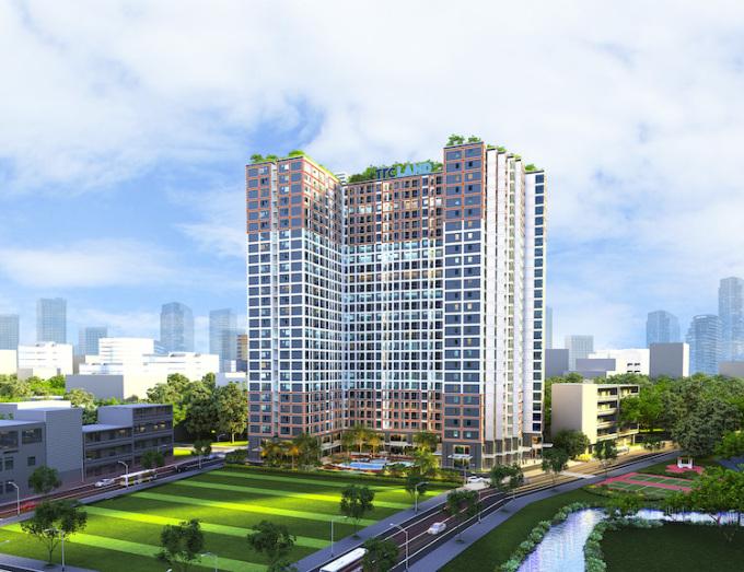 Phối cảnh dự án căn hộ Carillon 7 Tân Phú.