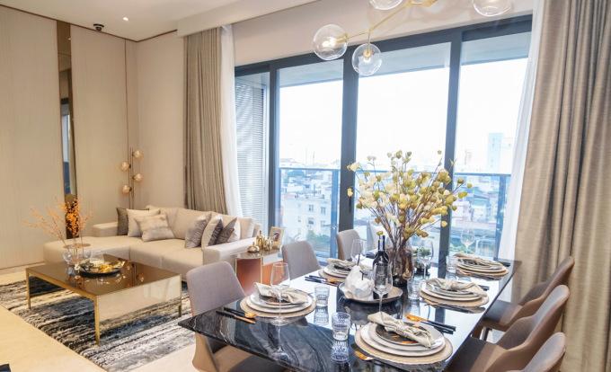 Nhà mẫu dự án căn hộ hạng sang trên đường Nguyễn Đình Chiểu, quận 1, TP HCM có giá bán trên 200 triệu đồng một m2. Ảnh: Hongkong Land.