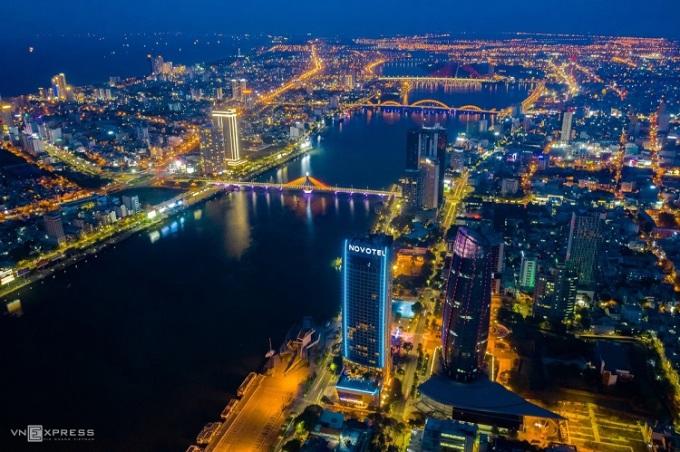 Một góc thành phố Đà Nẵng về đêm. Ảnh: Huỳnh Phương.