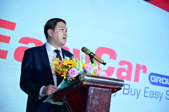 Ông Nguyễn Hoàng Minh Tiến – Chủ tịch Hội đồng quản trị EasyCar Group phát biểu tại sự kiện.