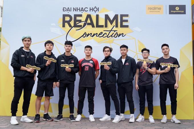 Các cầu thủ Thang Long Warriors tham dự sự kiện realme Connection.