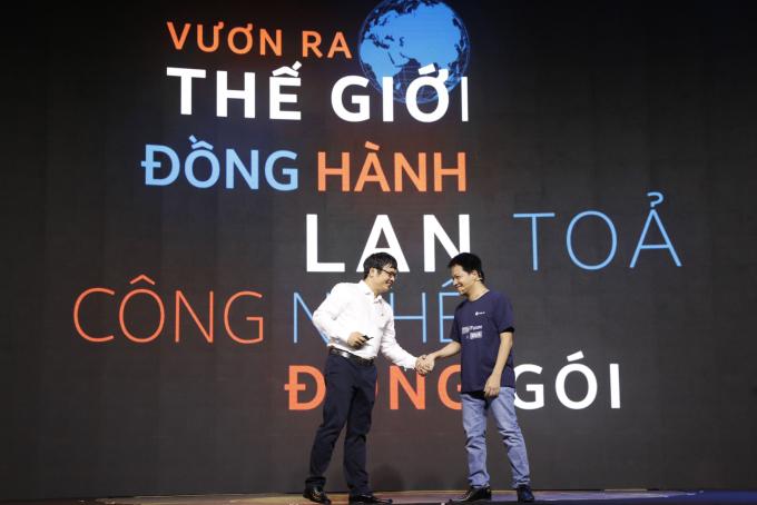 Ông Nguyễn Văn Khoa và ông Phạm Kim Hùng