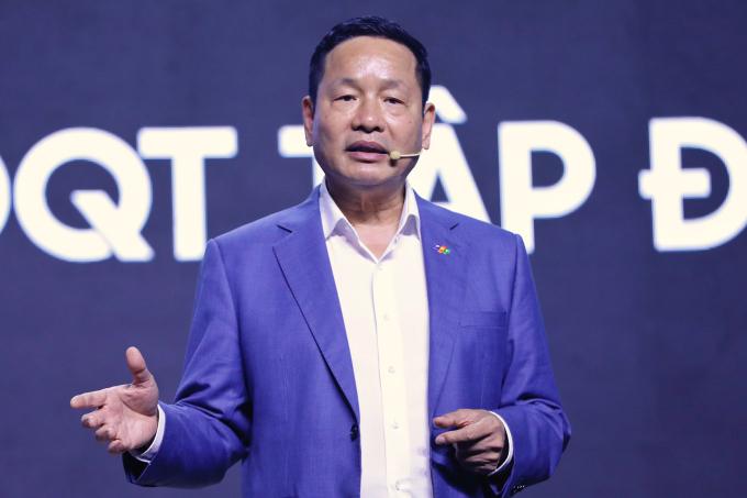 Theo Chủ tịch FPT Trương Gia Bình chuyển đổi số là xu hướng tất yếu, là cơ hội cho Việt Nam hùng cường. Ảnh: Hữu Khoa.