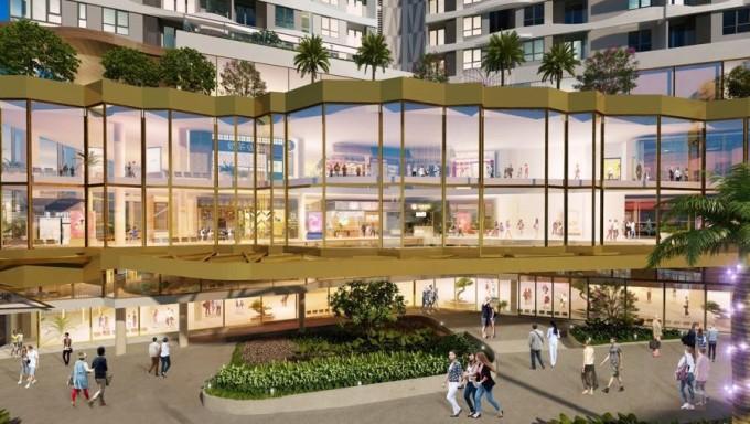 Trung tâm thương mại sầm uất theo mô hình phố đi bộ trên cao tại TP HCM. Ảnh phối cảnh: DHA Corp.