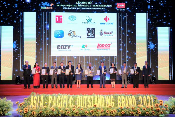 Các doanh nghiệp nằm trong top 10 Thương hiệu tiêu biểu Châu Á - Thái Bình Dương