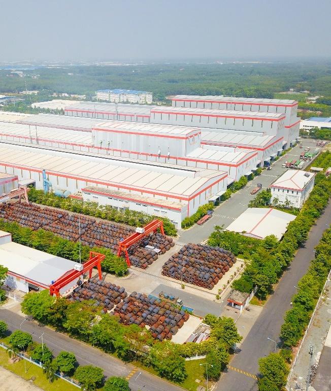 Nhà máy của Tôn Đông Á tại Thủ Dầu Một.
