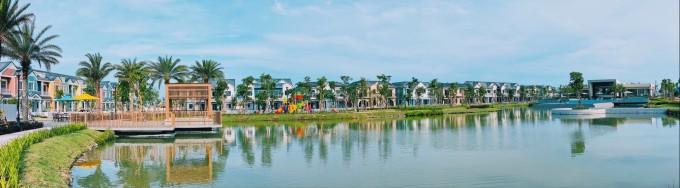 Diện mạo NovaWorld Phan Thiet thay đổi nhờ tiến độ thi công nhanh chóng. Ảnh thực tế dự án tháng 5/2021. Ảnh: Novaland.