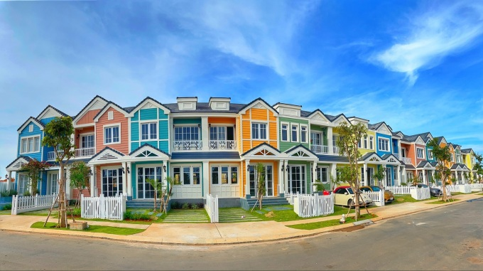 Các căn second home Florida sẽ bàn giao cho khách hàng trong năm nay. Ảnh chụp thực tế dự án tháng 5/2021. Ảnh: Novaland.