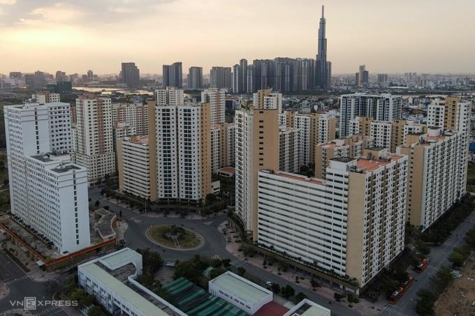 Một góc khu tái định cư phường Bình Khánh trong khu đô thị mới Thủ Thiêm, TP Thủ Đức. Ảnh: Thành Nguyễn.