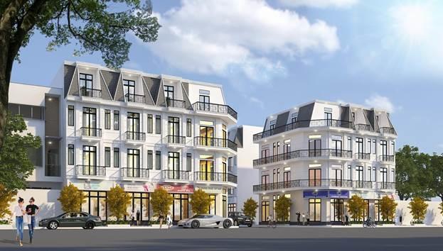 Các nhà phố thương mại tại Ruby Boutique Residence.