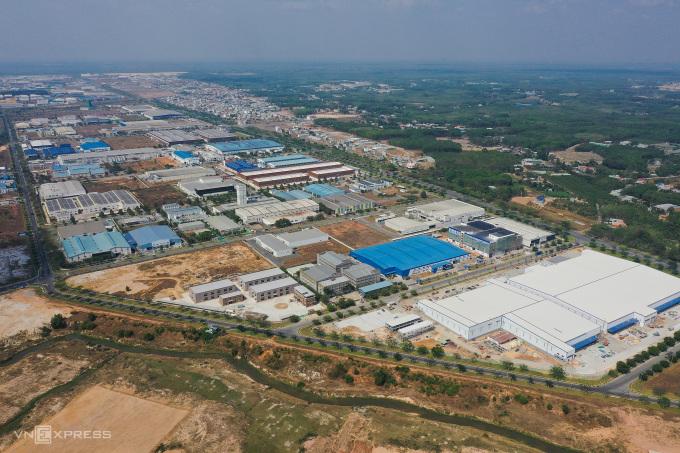 Khu công nghiệp VSIP II, huyện Tân Huyên, Bình Dương tháng 3/2021. Ảnh: Quỳnh Trần.