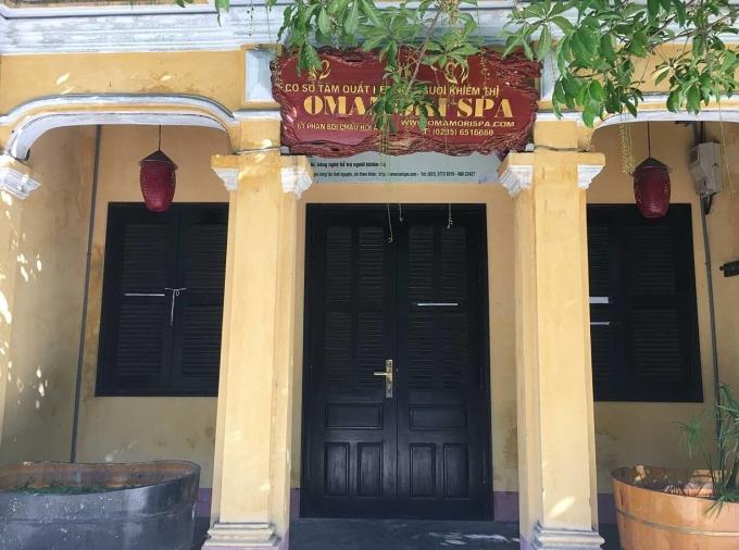 Bên ngoài cơ sở Omamori Spa tại Hội An ngày 26/5. Ảnh: Omamori Spa.