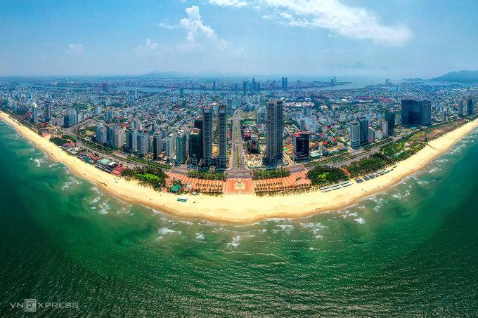 Thị trường bất động sản nghỉ dưỡng Đà Nẵng khu vực trung tâm. Ảnh: Kim Liên.