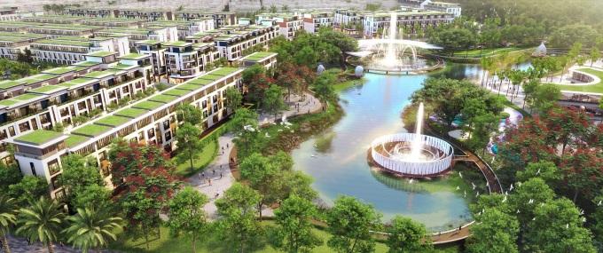 Phú Quốc đang là lựa chọn sáng giá cho những dự định an cư mới. Ảnh phối cảnh dự án Meyhomes Capital Phú Quốc.