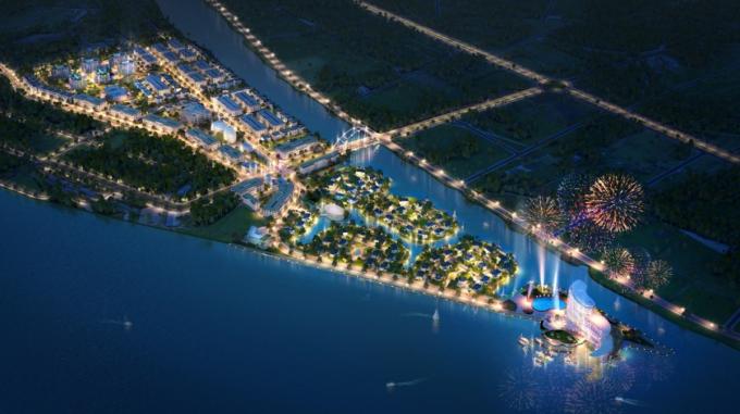 Phối ảnh khu đô thị mới Cồn Khương do Văn Phú - Invest triển khai tại Cần Thơ.