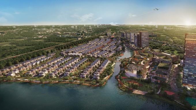 Dự án iD Junction nhìn từ sông Đồng Môn. Ảnh phối cảnh: Tây Hồ Group.