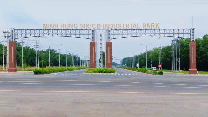 Nhiều nhà đầu tư tại Bình Dương tìm tới KCN Minh Hưng Sikico để mở rộng cơ sở sản xuất. Ảnh: Minh Hưng Sikico.