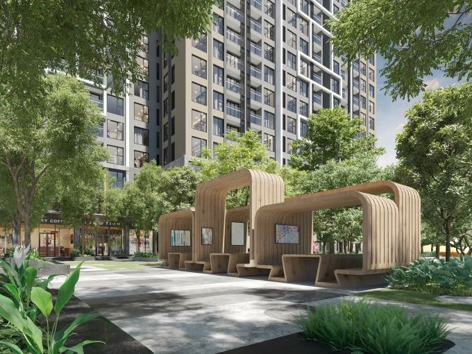Thiết kế cao cấp và tinh tế tại khu vực ngoài trời của Masteri West Heights, bởi đơn vị thiết kế Thái Lan Land Sculptor. Ảnh phối cảnh: Masterise Homes.