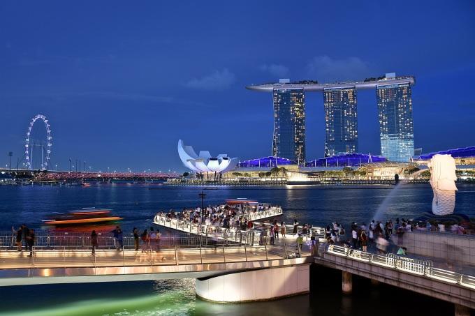 Toàn cảnh Marina Bay Sands.Ảnh: Shutterstock.