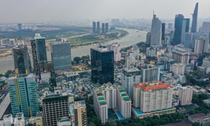Thị trường văn phòng cho thuê khu trung tâm TP HCM. Ảnh: Quỳnh Trần.