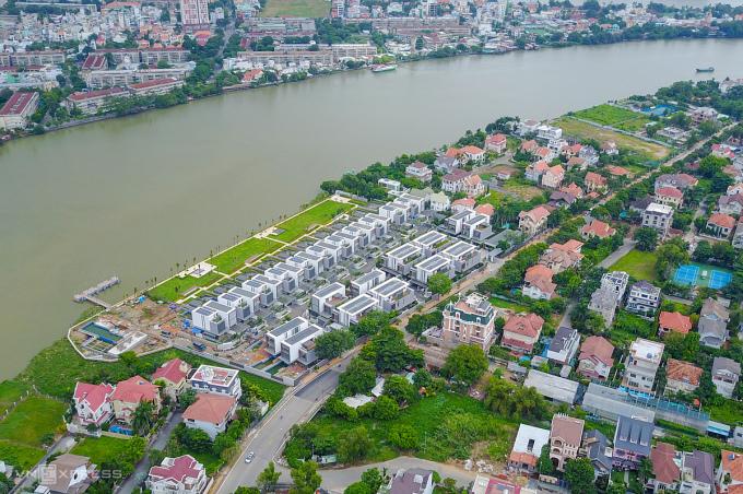 Những căn biệt thự tại phường Thảo Điền, Thành phố Thủ Đức. Ảnh: Như Quỳnh.