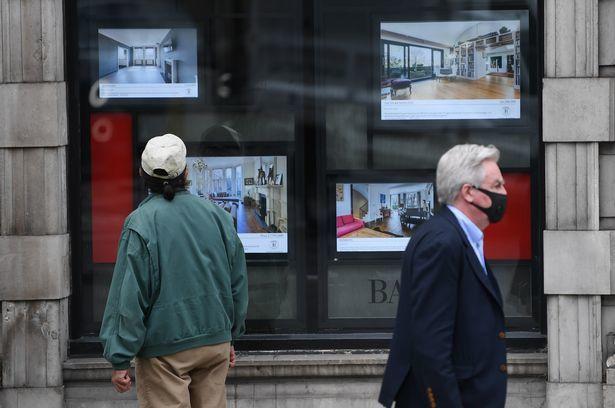 Một người dân quan sát quảng cáo về nhà ở. Ảnh: Daniel Leal-Olivas.