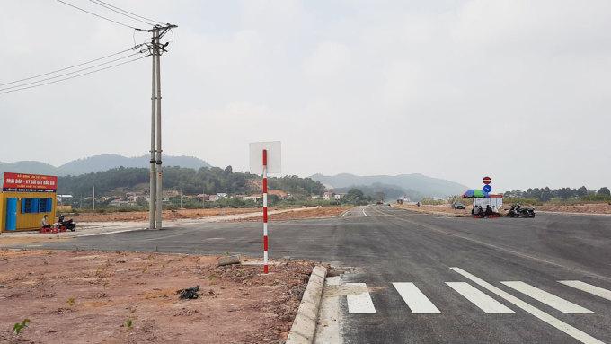 Khu vực xã Nội Hoàng, Yên Dũng từng là điểm nóng nhất về giao dịch, mua bán đất tại Bắc Giang. Ảnh chụp tháng 3/2021. Ảnh: Quốc Phương.