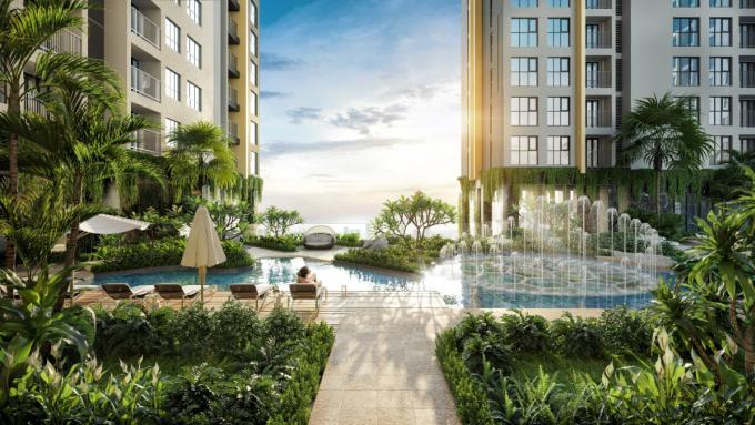 Không gian sống tại Happy One - Central được kiến tạo theo tiêu chuẩn sống xanh của Singapore