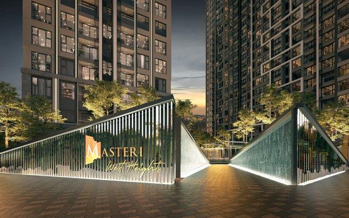 Masteri West Heights được kỳ vọng tạo lập chuẩn sống quốc tế mới tại phía Tây Hà Nội. Ảnh phối cảnh: Masterise Homes.