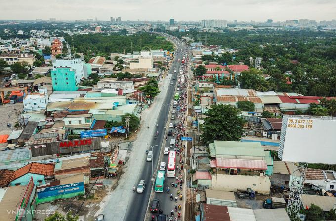 Bất động sản khu Tây TP HCM. Ảnh: Quỳnh Trần.