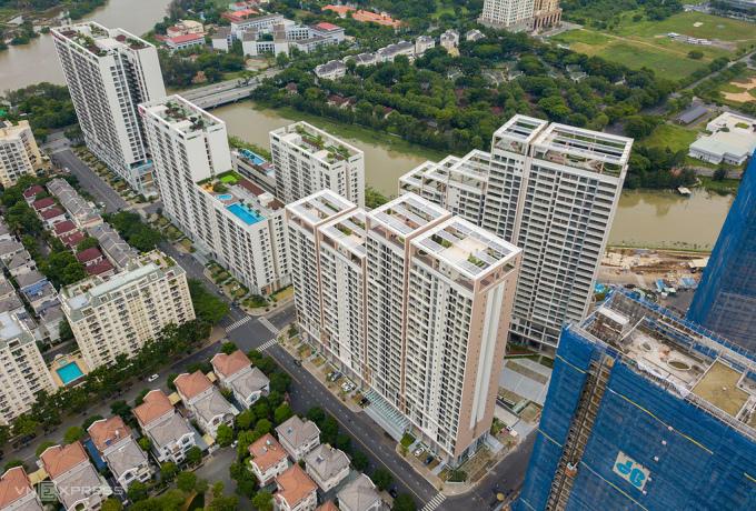 Thị trường chung cư phía Nam TP HCM. Ảnh: Quỳnh Trần.