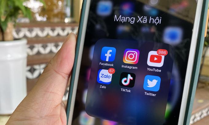 Các mạng xã hội phổ biến tại Việt Nam. Ảnh: Anh Tú