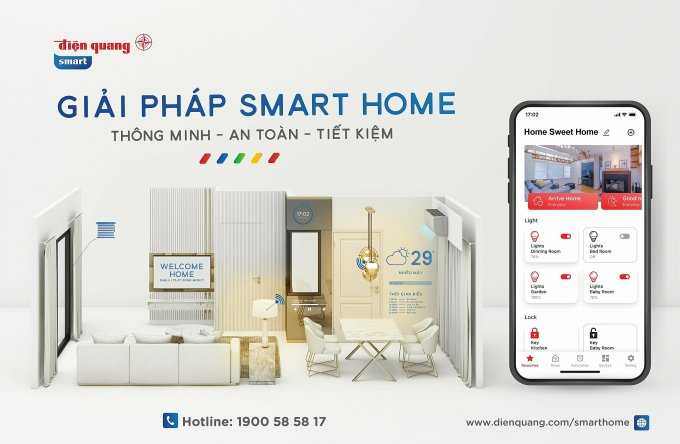 Giải pháp smart home của Điện Quang