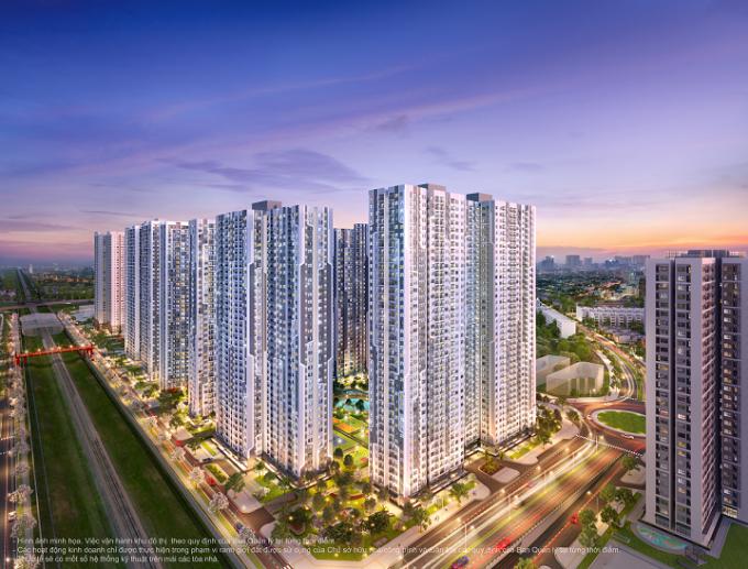 Phối cảnh The Miami sở hữu vị trí đắc địa giúp kết nối thuận tiện cả nội và ngoại khu