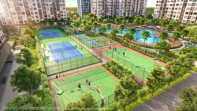 Hệ thống sân tập liên hoàn mang đến cuộc sống khỏe và năng động cho cư dân The Miami. Ảnh: The Miami